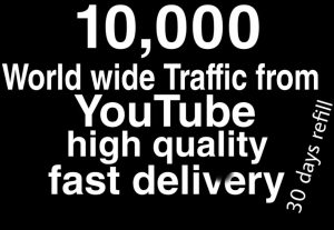 World wide traffick from YouTube fast delivery