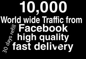World wide traffick from Facebook fast delivery