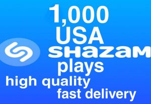 I will give you 1,000+ HQ Shazam Plays