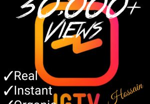 Add 30,000+ Instagram IGTV Views at only $ 3.00 with best quality,Real and organic at Instant.