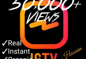 Add 50000+ IGTV Views at only $5.00 with best quality,real and organic at Instant.