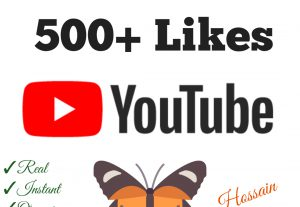 Add 500+ YouTube Likes with high quality promotion, real, non dropped and work instantly.