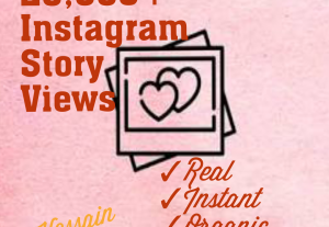 Get 20000+ Instagram Story Views at Instant with best quality promotions, real and 100% organic at only $6.00.