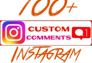 Add 100+ Instagram Custom Comments at your Instagram Post.