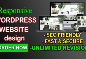I will create and design SEO friendly responsive wordpress website with elementor