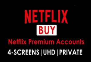 Buy Netflix- Premium 1Month UHD 4 Screen Private accounts