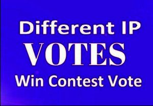 give you 200 genuine IP votes by real people to any rnIP contest that you are participating