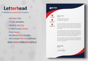 I will design editable letterhead template any format 4 hours