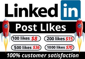 I WILL PROVIDE YOU  MANUALLY 100 Linkedin Post Likes