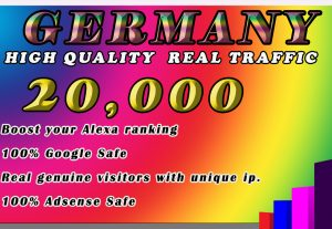 I will drive 20k real, organic traffic from Germany