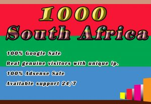 I will drive 1000 real visitors from South Africa  To Your Website Or Blog.
