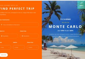 Let's Travel – Responsive Travel Booking Site Template