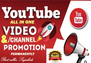 MANUALLY AND FAST YOUTUBE VIDEO AND CHANEL PROMOTION VIA REAL USER for $5