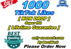 You will get 1000 TikTok Likes Super High-Quality Non-drop Lifetime Guarantee