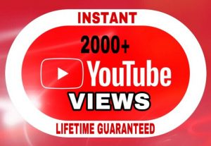 2000+ Views added in your YouTube video instant & lifetime guaranteed!!!
