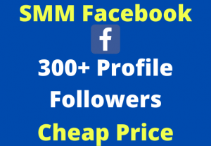 Facebook Profile Followers 300+ Non-Drop SMM Market Service