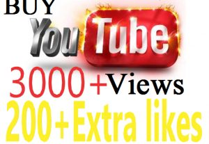 3000 + YouTube Video HQ, HR Views Promotion High Qulity World Wide  User + Extra 200 Likes