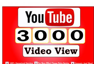 Get 3000+ High Quality Youtube Video View,High Retention and life time guranteed for 5$