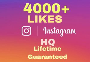 I will add 4000+ Instagram Likes Instant ! HQ & Lifetime Guaranteed !!