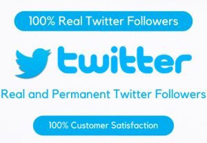 100 Twitter Active Real and Non Drop Followers