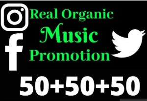 I will do fast organic Music promotion for your song, 50 Facebook + 50 Twitter+ 50 Instagram (Interesting offers).