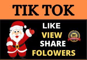 High Quality 1 Million TikTok Video Views Splits 1-10