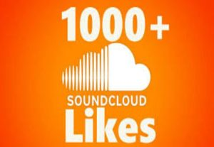 1000+ SOUNDCLOUD LIKES ORGANIC HIGH QUALITY AND NON DROP GUARANTEED