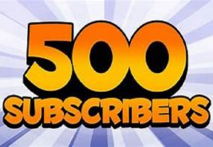 500+ REAL AND YOU TUBE SUBSCRIBERS ORGANIC PROMOTION