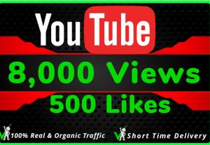 I Will Do HQ NON DROP 8000 Youtube Views and 500 likes