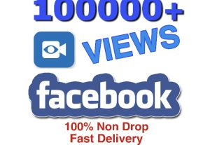 I will add 100K+ VIEWS on Facebook. Very High Quality & Fast Delivery.