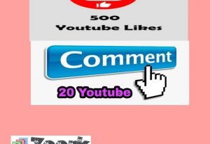 You will get 500+ YouTube Likes, 20 YouTube Comments Non-Drop LifeTime Guarantee