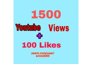 Instant 1500+ YouTube Video Views + 100 Likes, Good Retention, Non Drop Life Time Guaranteed