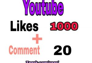 YOUTUBE 1000 LIKES OR 20 COMMENTS  (INSTANT START)