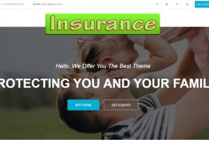 Insurance Landing page or website in HTML or Dynamic