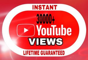 30000+ Views added in your YouTube video instant & lifetime guaranteed!!!