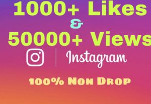 Get 1000+Video likes & 50000+ Video Views on INSTAGRAM !! Quick Delivery & 100% Non Drop !!
