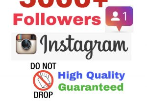 Get 5000+ Followers on INSTAGRAM ! Non Drop & High Quality! ( If drop, 30 days refill guaranteed)