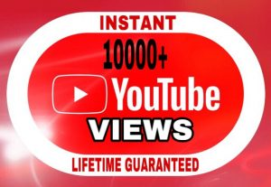 10000+ Views added in your YouTube video instant & lifetime guaranteed!!!