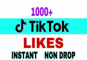 Provide 1000+ Tik Tok likes instantly