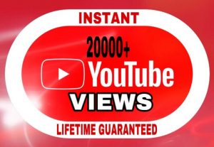 20000+ Views added in your YouTube video instant & lifetime guaranteed!!!