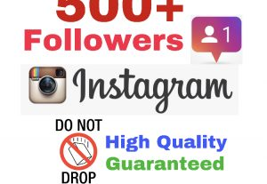 Get 500+ Followers on INSTAGRAM !! Non drop & High Quality ! ( If drop, 30 days refill guaranteed )