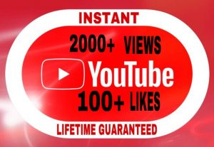 Provide 2000+ YouTube Views and 100+ Likes Lifetime Guaranteed!!!