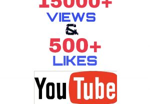 Get 15000+ Views & 500+ Likes on YOUTUBE !! High Quality & Supperfast Delivery !!