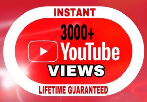 3000+ Views added in your YouTube video instant & lifetime guaranteed!!!