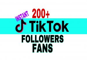 Get 200+ TikTok Fans Followers Instantly!!!