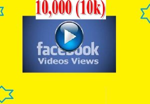I will Manage 10,000 Facebook Video Views for Your Videos
