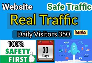 I will Provide real visitors, and targeted web traffic