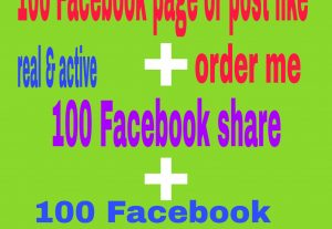 Facebook page like,post like, share and comments  sell