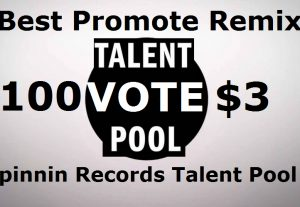 Buy 100 Spinnin records talent pool votes on your remix promote
