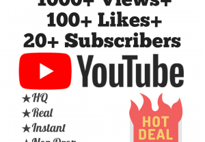Add 1000+ YouTube Views, 100+ Likes & 10 Subscribers at Instant with lifetime guarantee!!